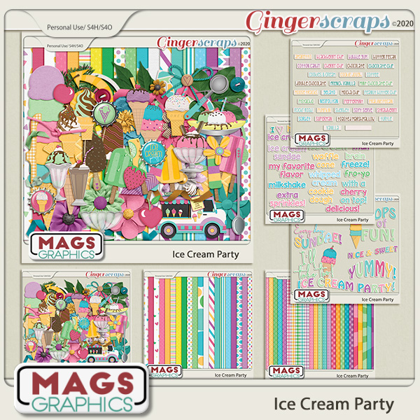 Ice Cream Party BUNDLE by MagsGraphics