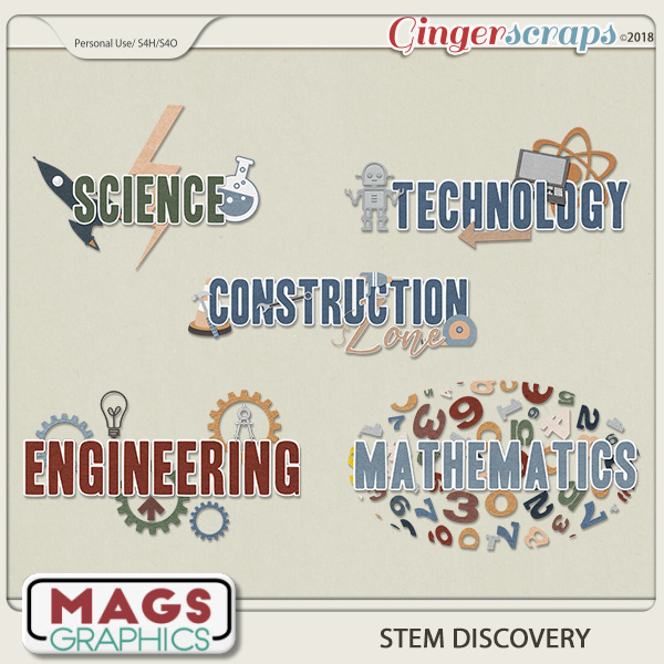 STEM Discovery WORD ART by MagsGraphics