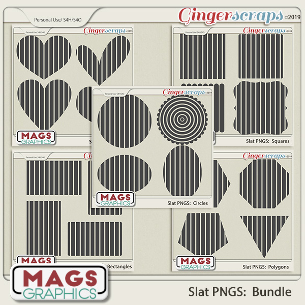 SLAT BUNDLE PNG Templates by MagsGraphics