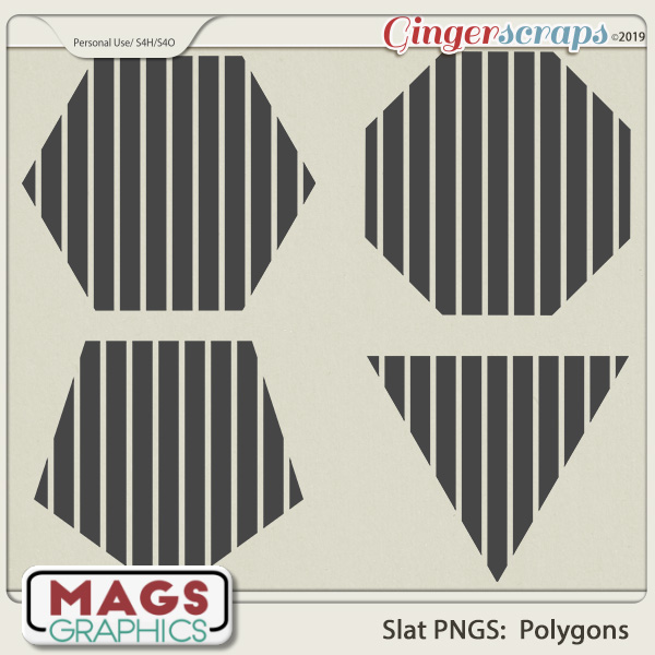 SLAT POLYGONS PNG Templates by MagsGraphics
