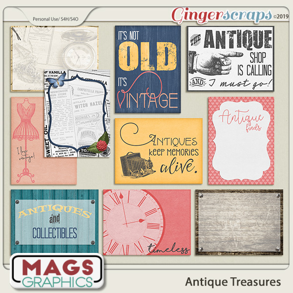 Antique Treasures JOURNAL CARDS by MagsGraphics
