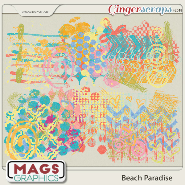 Beach Paradise HODGE PODGE by MagsGraphics