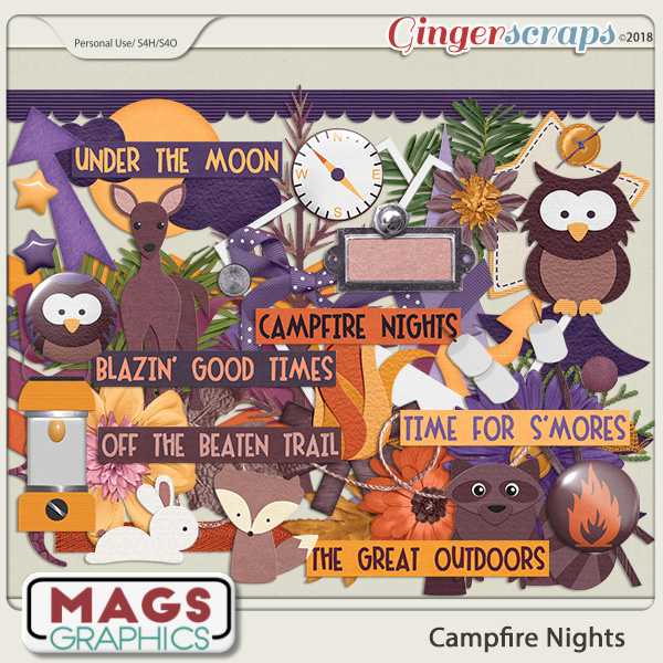Campfire Nights ELEMENTS by MagsGraphics