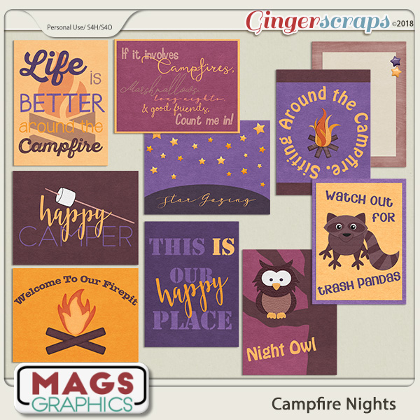 Campfire Nights JOURNAL CARDS by MagsGraphics