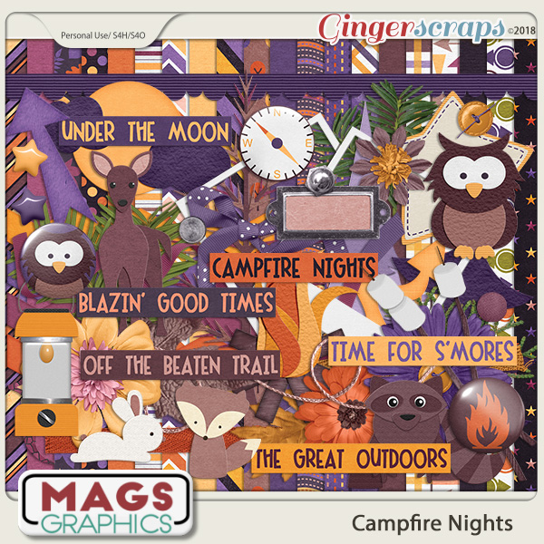 Campfire Nights KIT by MagsGraphics