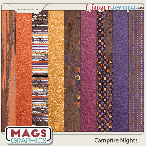 Campfire Nights SPECIALTY PAPERS by MagsGraphics