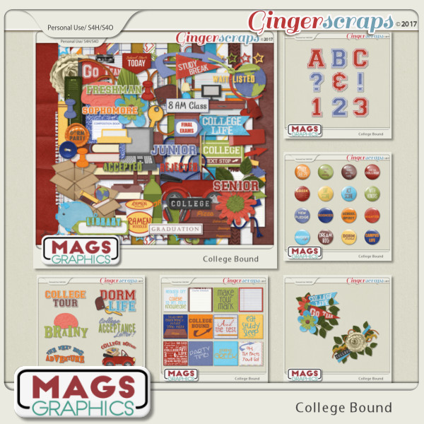 College Bound BUNDLE + BONUS CLUSTERS by MagsGraphics