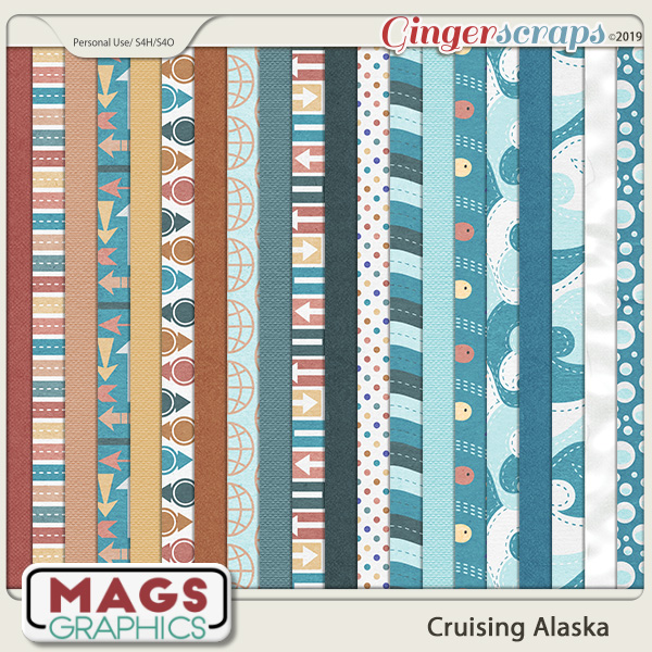 Cruising Alaska PAPER PACK by MagsGraphics