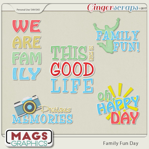 Family Fun Day WORD ART by MagsGraphics