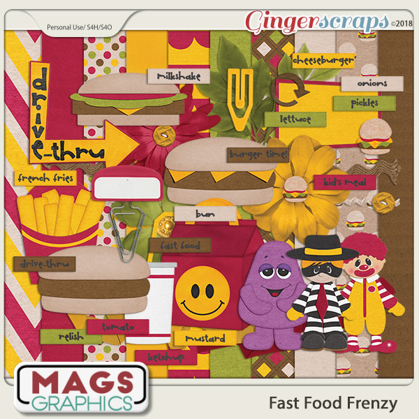 Fast Food Frenzy KIT by MagsGraphics