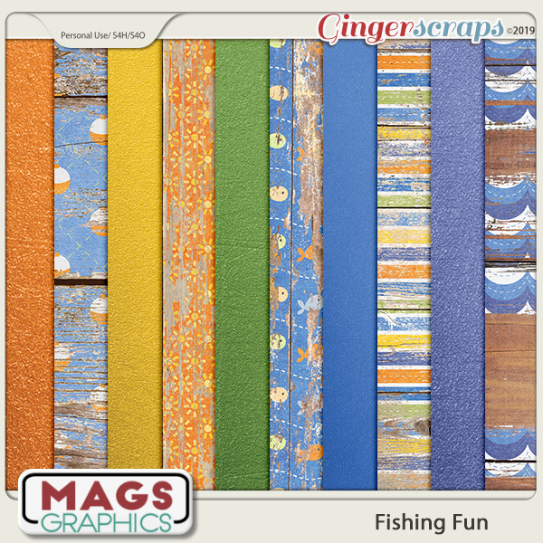 Fishing Fun SPECIALTY PAPERS by MagsGraphics