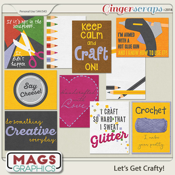 Let's Get Crafty JOURNAL CARDS by MagsGraphics