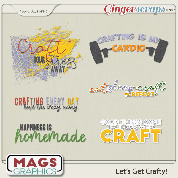 Let's Get Crafty WORD ART by MagsGraphics