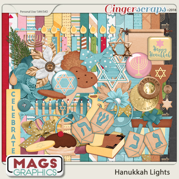 Hanukkah Lights KIT by MagsGraphics