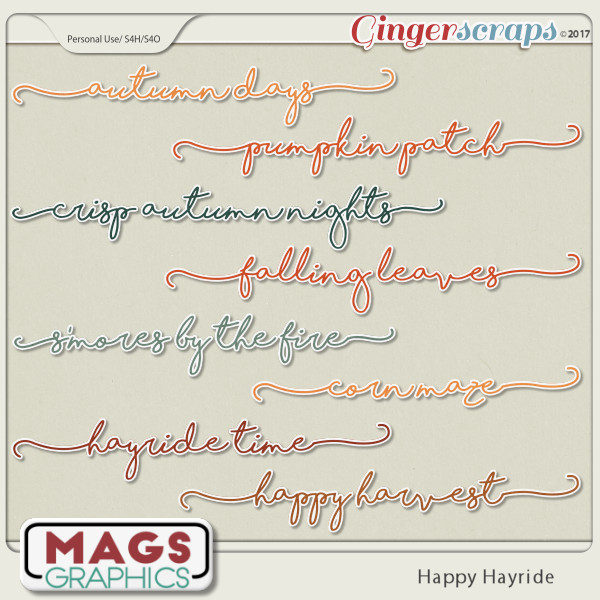 Happy Hayride TITLES by MagsGraphics
