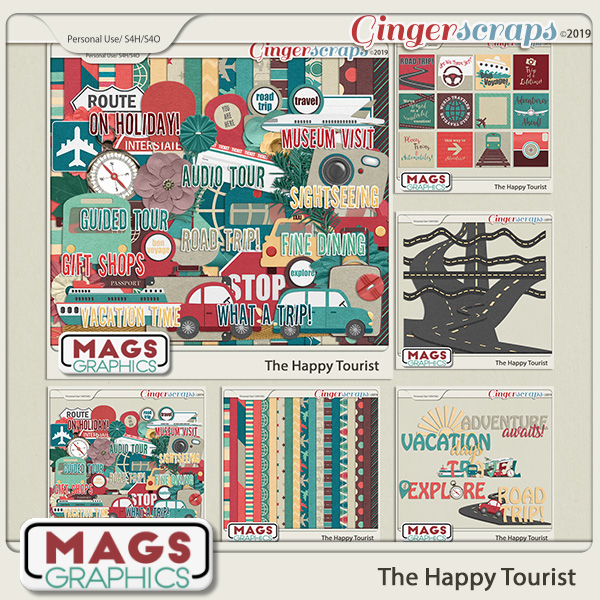 The Happy Tourist BUNDLE by MagsGraphics