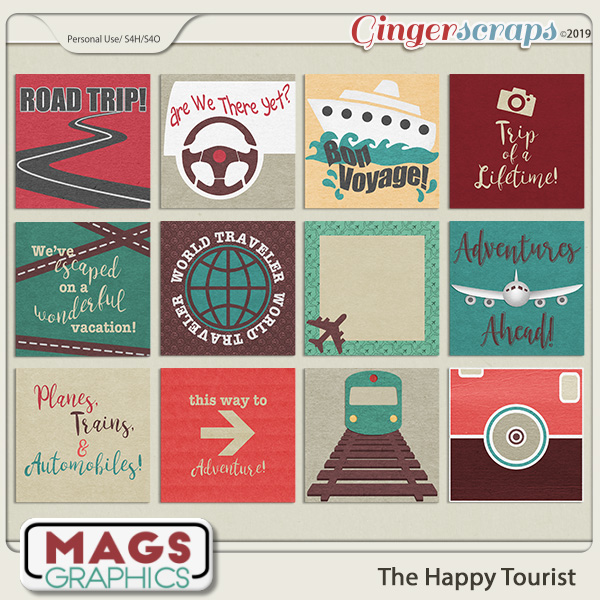 The Happy Tourist JOURNAL CARDS by MagsGraphics