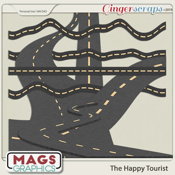 The Happy Tourist ROADS by MagsGraphics