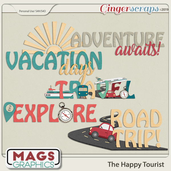The Happy Tourist WORD ART by MagsGraphics