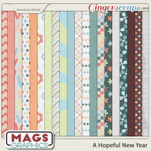 A Hopeful New Year PAPERS by MagsGraphics