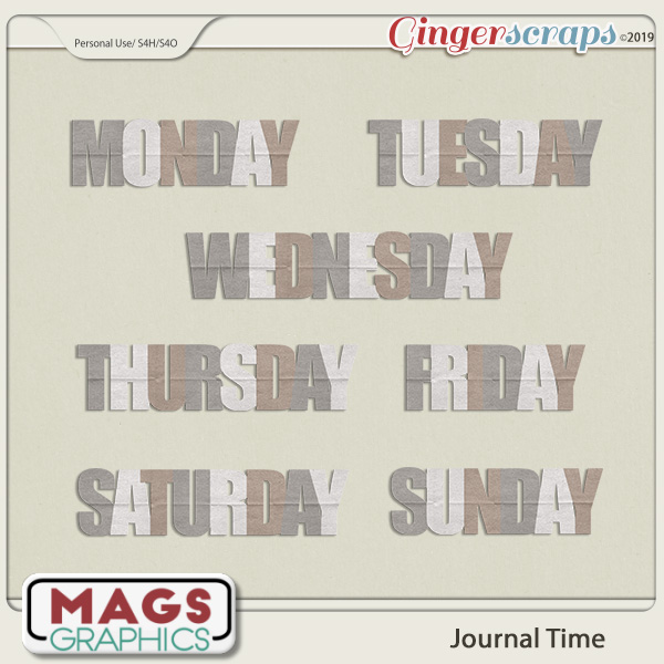 Journal Time DAYS Title Pack by MagsGraphics
