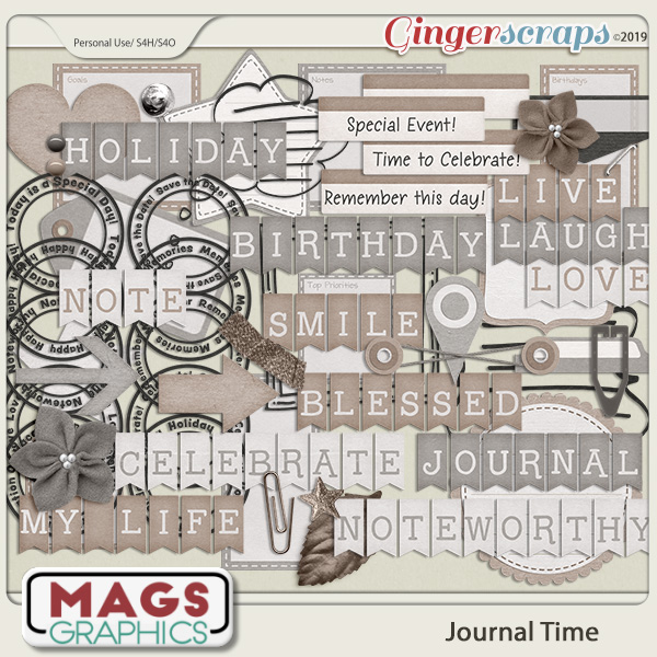 Journal Time ELEMENTS by MagsGraphics