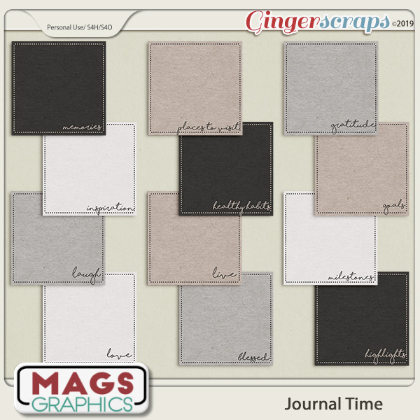 Journal Time JOURNAL CARDS by MagsGraphics