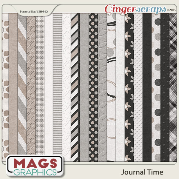 Journal Time PAPER PACK by MagsGraphics