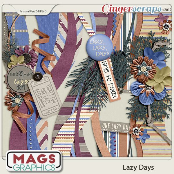Lazy Days BORDERS by MagsGraphics