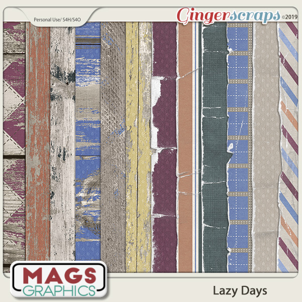 Lazy Days SPECIALTY PAPERS by MagsGraphics