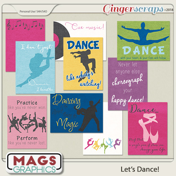 Let's Dance JOURNAL CARDS by MagsGraphics