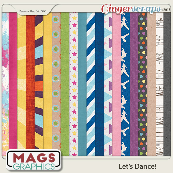 Let's Dance PAPERS by MagsGraphics
