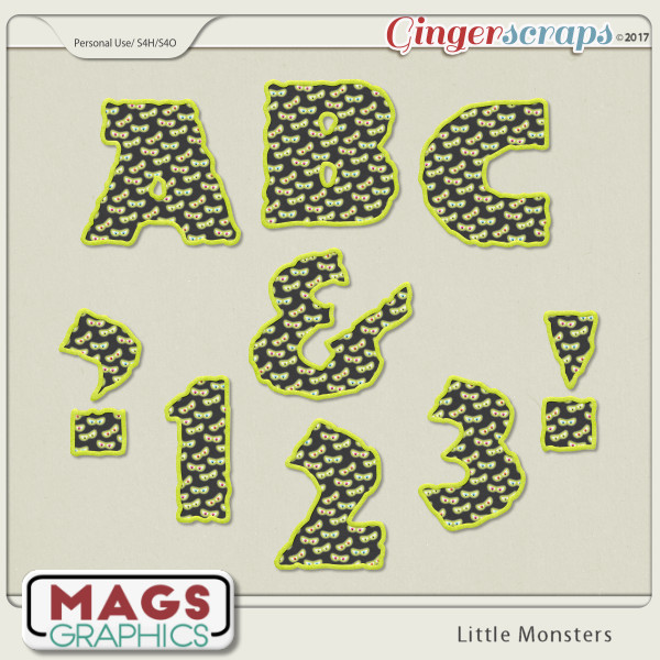 Little Monsters ALPHA by MagsGraphics
