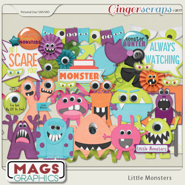 Little Monsters ELEMENTS by MagsGraphics