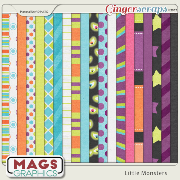 Little Monsters PAPERS by MagsGraphics