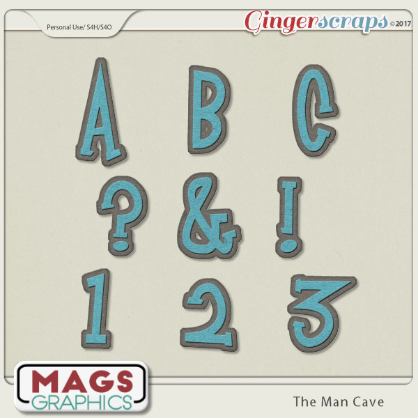 The Man Cave ALPHA Pack by MagsGraphics