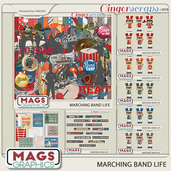 Marching Band Life BUNDLE by MagsGraphics