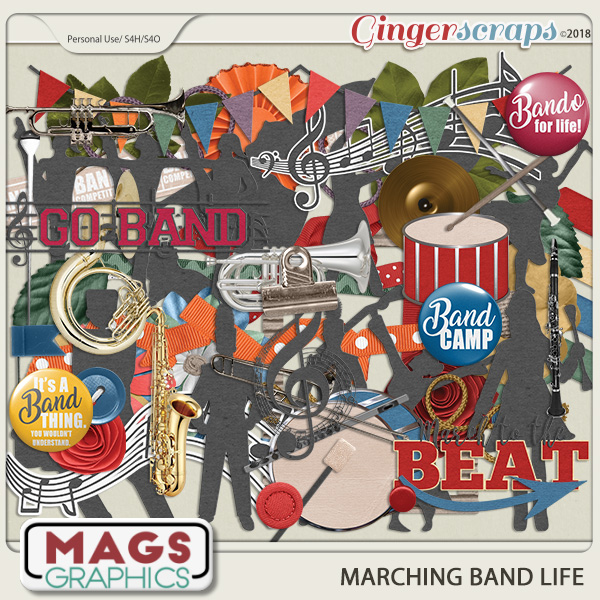 Marching Band Life ELEMENTS PACK by MagsGraphics