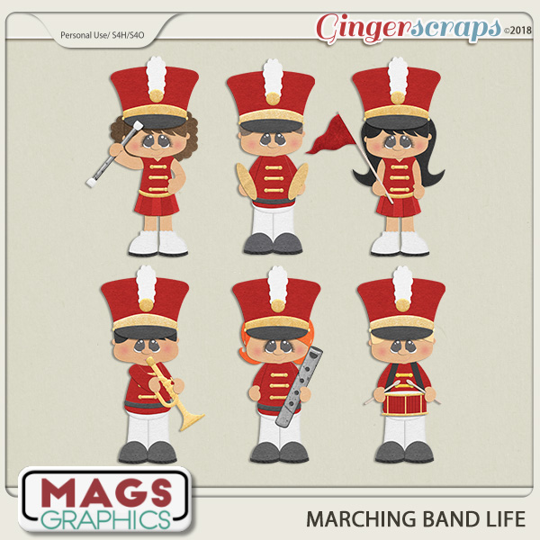 Marching Band Life RED BAND by MagsGraphics