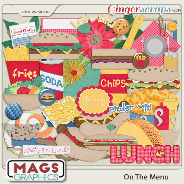 On The Menu LUNCH PACK by MagsGraphics