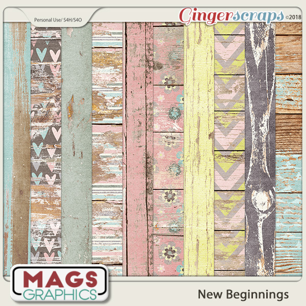 New Beginnings SPECIALTY WOOD PAPERS by MagsGraphics