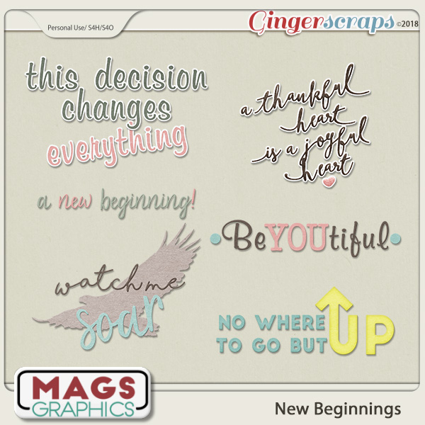 New Beginnings WORD ART by MagsGraphics