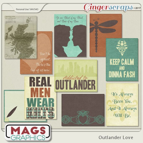 Outlander Love JOURNAL CARDS by MagsGraphics