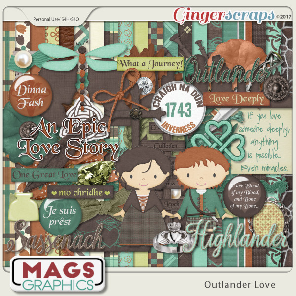 Outlander Love KIT by MagsGraphics