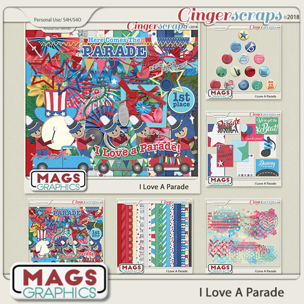 I Love A Parade BUNDLE by MagsGraphics