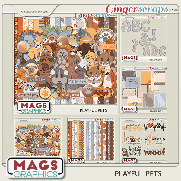 Playful Pets BUNDLE by MagsGraphics