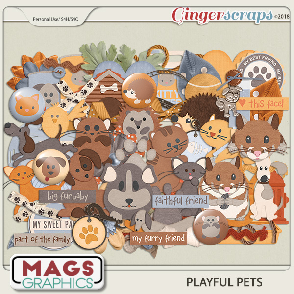 Playful Pets ELEMENTS by MagsGraphics