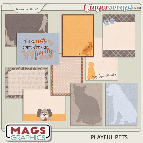 Playful Pets JOURNAL CARDS by MagsGraphics