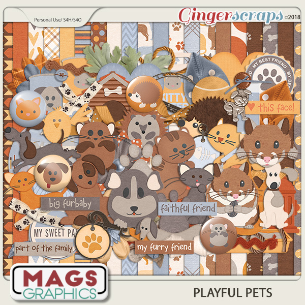Playful Pets KIT by MagsGraphics