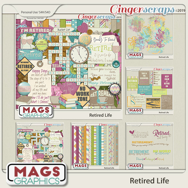 Retired Life BUNDLE by MagsGraphics